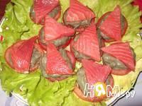 Приготовление закуски с форелью и авокадо: шаг 5