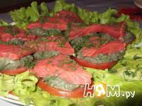 Приготовление закуски с форелью и авокадо: шаг 6