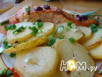 Приготовление запеченной семги с картофелем: шаг 6