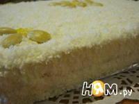 Приготовление торта без выпечки Рафаэлло: шаг 6