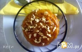 Десерт из тыквы с хурмой