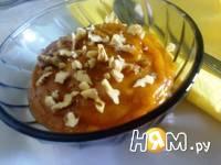 Приготовление десерта из тыквы с хурмой: шаг 7