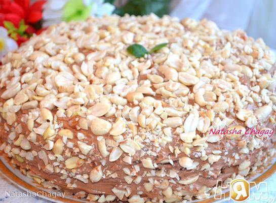Рецепт Шоколадный торт с орехами