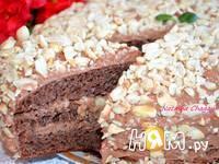 Приготовление шоколадного торта с орехами: шаг 9