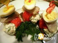 Приготовление закуски с сельдью, перцем и сыром: шаг 6
