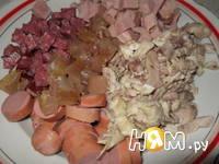 Приготовление сборной мясной солянки: шаг 5