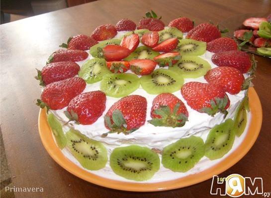 Рецепт фруктового торта в домашних условиях