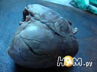 Приготовление салата из сердца с гранатом: шаг 1