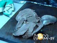 Приготовление салата из сердца с гранатом: шаг 5