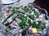 Приготовление салата из сердца с гранатом: шаг 12