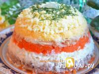 Приготовление салата с консервированной скумбрией : шаг 4