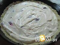 Приготовление творожного пирога: шаг 8