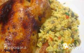 Курица в духовке с ароматным маслом