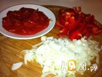 Приготовление супа с помидорами и болгарским перцем: шаг 2