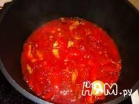 Приготовление супа с помидорами и болгарским перцем: шаг 3