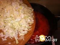 Приготовление супа с помидорами и болгарским перцем: шаг 4