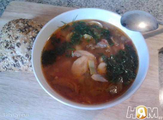 Грибной суп с паприкой