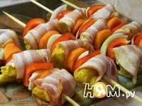 Приготовление куриного шашлыка на шпажках: шаг 5