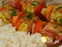 Приготовление куриного шашлыка на шпажках: шаг 8