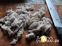 Приготовление овощного салата с курицей: шаг 2
