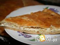 Приготовление пирога с сыром и колбасой: шаг 2
