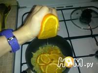 Приготовление куриной печени с апельсинами: шаг 5