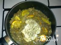Приготовление куриной печени с апельсинами: шаг 6