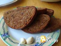 Приготовление бутербродов с шампиньонами: шаг 3