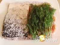Приготовление семги малосольной: шаг 3