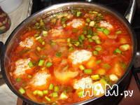 Приготовление супа овощного с фрикадельками: шаг 7