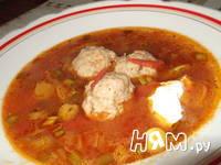 Приготовление супа овощного с фрикадельками: шаг 8