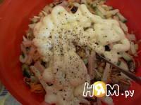 Приготовление салата из ветчины Мужская мечта: шаг 9