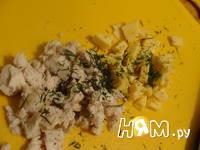 Приготовление блинчиков с начинкой из курицы: шаг 2