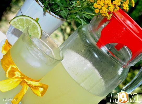 Рецепт Имбирный лимонад с мятой