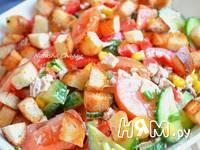 Приготовление салата с курицей и овощами: шаг 3