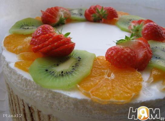 Торт с апельсиново-сливочным суфле