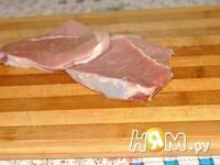 Приготовление свиного стейка-гриля: шаг 1