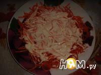 Приготовление слоеного салата с курицей и кукурузой: шаг 1