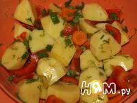 Приготовление свинины с овощами, запеченной в рукаве: шаг 6