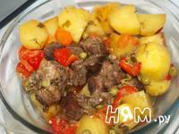 Приготовление свинины с овощами, запеченной в рукаве: шаг 8
