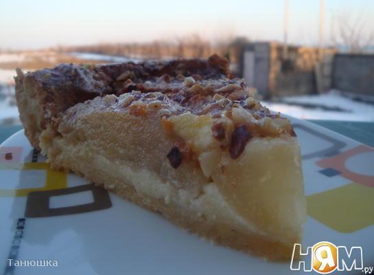 Итальянский грушевый пирог с маскарпоне