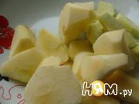 Приготовление тыквенного пирога с яблоками: шаг 6