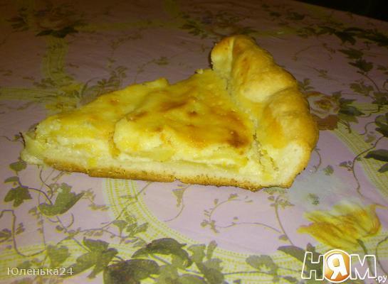 Тарт  с яблоками из сдобного теста