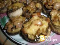 Приготовление шампиньонов фаршированных курицей: шаг 6