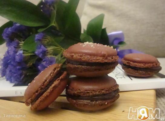 Шоколадные макаронс  с лаймовой ноткой