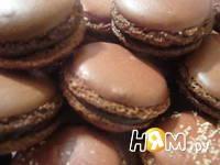 Приготовление шоколадных макаронс: шаг 21