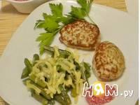 Приготовление стручковой фасоли с сыром: шаг 1