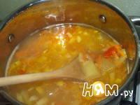 Приготовление острого сырного супа: шаг 9