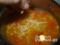Приготовление острого сырного супа: шаг 11