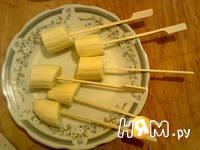 Приготовление десерта из бананов и шоколада: шаг 4